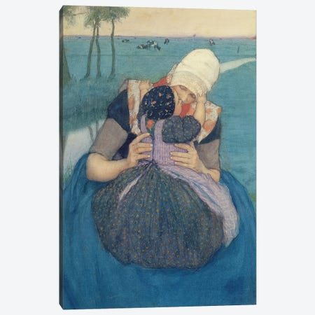 Mother and Child, 1900 Canvas Print #BMN9103} by Charles William Bartlett Canvas Wall Art