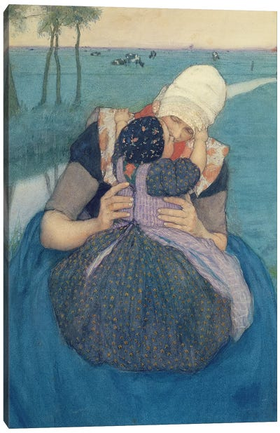 Mother and Child, 1900 Canvas Art Print