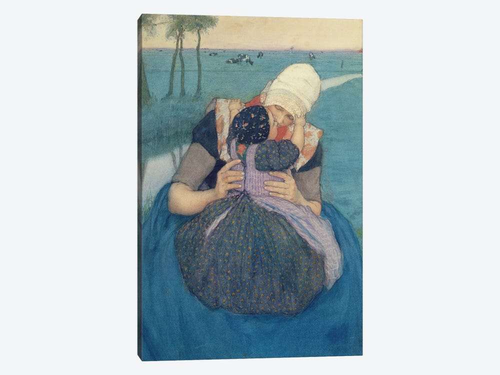 Mother and Child, 1900 by Charles William Bartlett 1-piece Canvas Wall Art