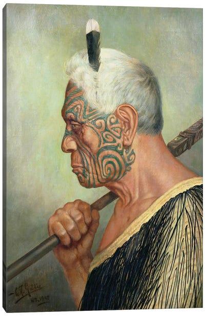 A Maori Warrior Canvas Art Print