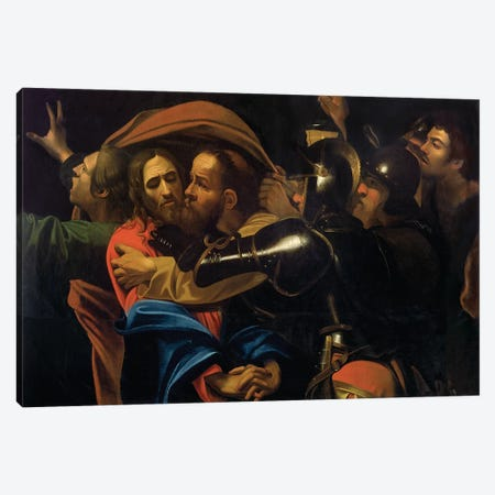 The Taking of Christ Canvas Print #BMN9106} by Michelangelo Merisi da Caravaggio Canvas Print