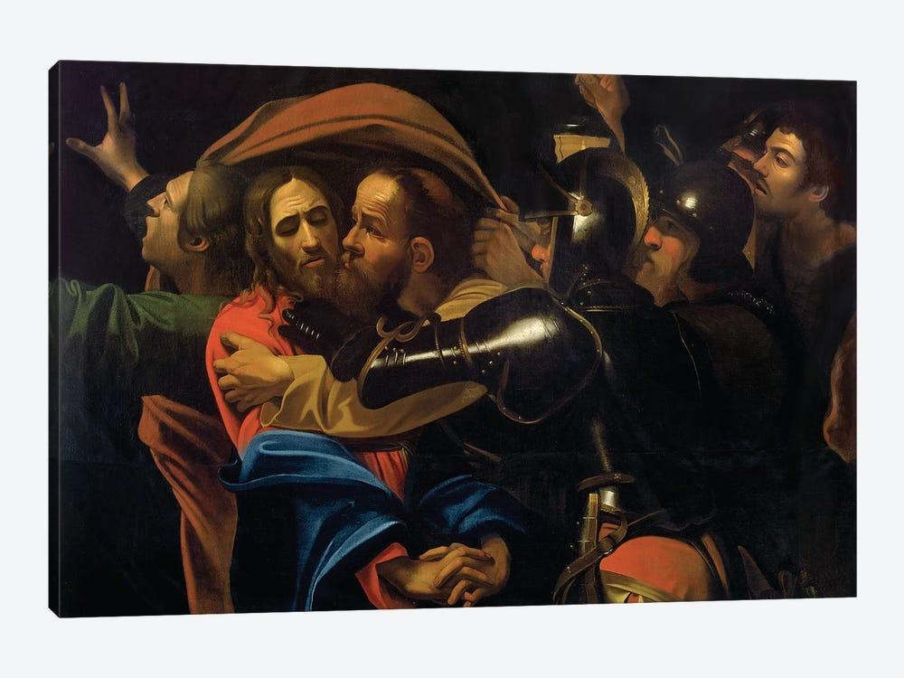 The Taking of Christ by Michelangelo Merisi da Caravaggio 1-piece Canvas Art Print