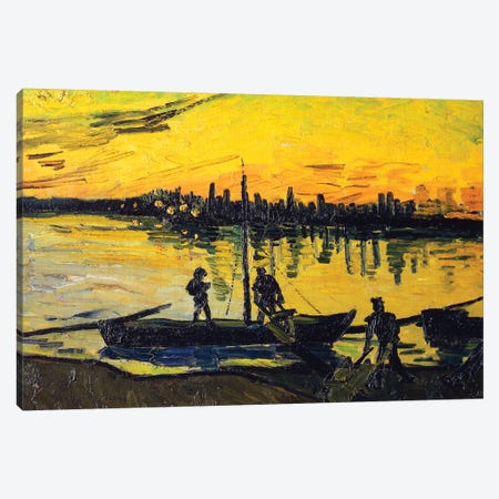 The Stevedores in Arles, 1888 Canvas Print #BMN9107} by Vincent van Gogh Canvas Art Print