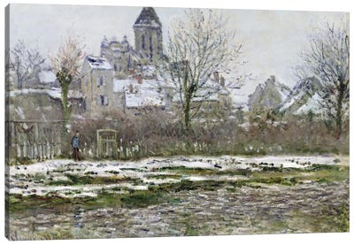 The Church at Vetheuil under Snow, 1878-79  Canvas Print #BMN910