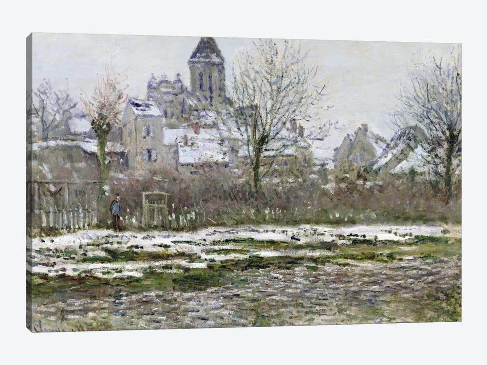 The Church at Vetheuil under Snow, 1878-79  by Claude Monet 1-piece Canvas Art