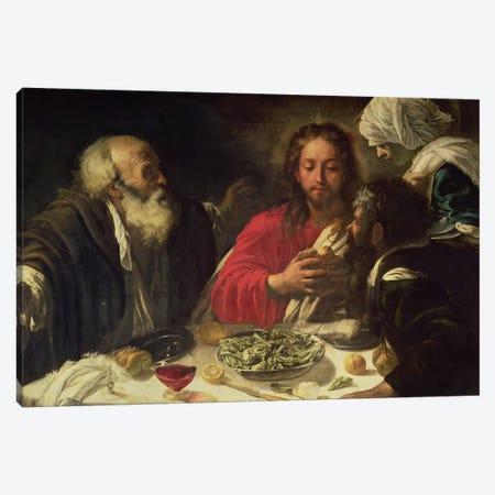 The Supper at Emmaus, c.1614-21 Canvas Print #BMN9111} by Michelangelo Merisi da Caravaggio Art Print