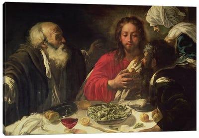 The Supper at Emmaus, c.1614-21 Canvas Art Print