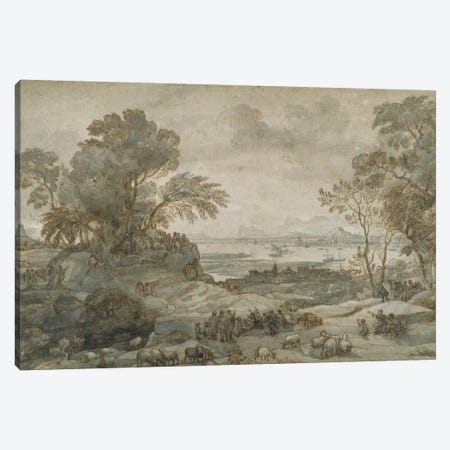 Landscape with Christ Preaching the Sermon on the Mount Canvas Print #BMN9115} by Claude Lorrain Canvas Artwork