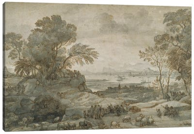 Landscape with Christ Preaching the Sermon on the Mount Canvas Art Print