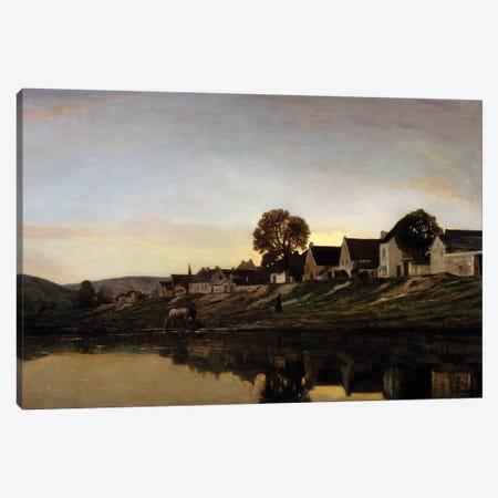 Village near Bonnieres Canvas Print #BMN9119} by Charles Francois Daubigny Art Print