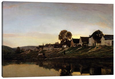 Village near Bonnieres Canvas Art Print