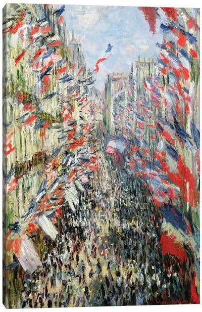 The Rue Montorgueil, Paris, Celebration of June 30, 1878  Canvas Art Print