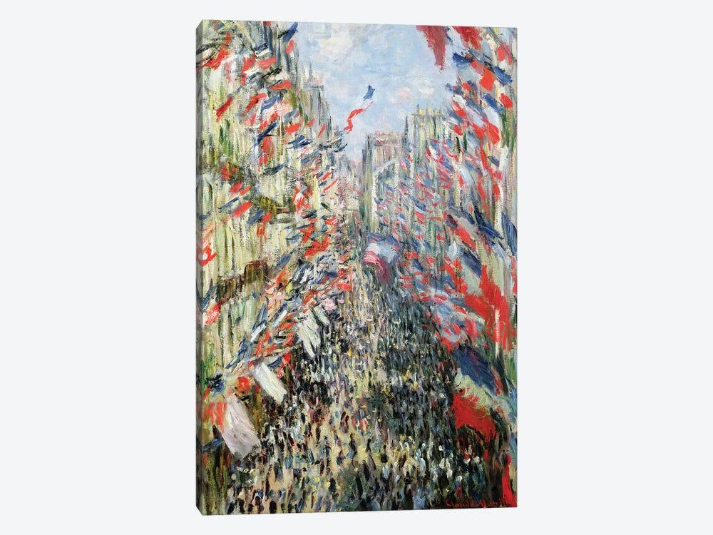 The Rue Montorgueil, Paris, Celebration of June 30, 1878  by Claude Monet 1-piece Art Print