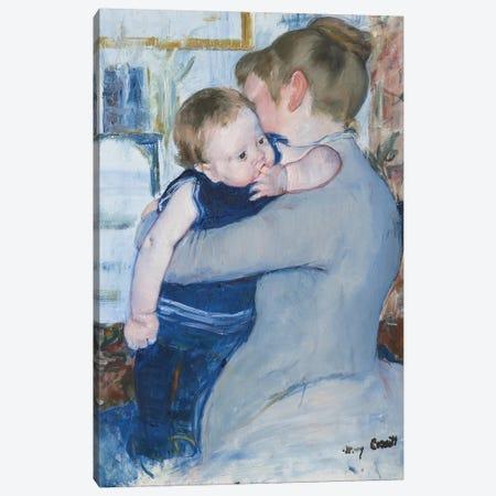 Mother And Child , c. 1889 3-Piece Canvas #BMN9124} by Mary Stevenson Cassatt Canvas Print