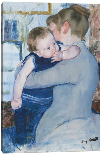Mother And Child , c. 1889 Canvas Art Print