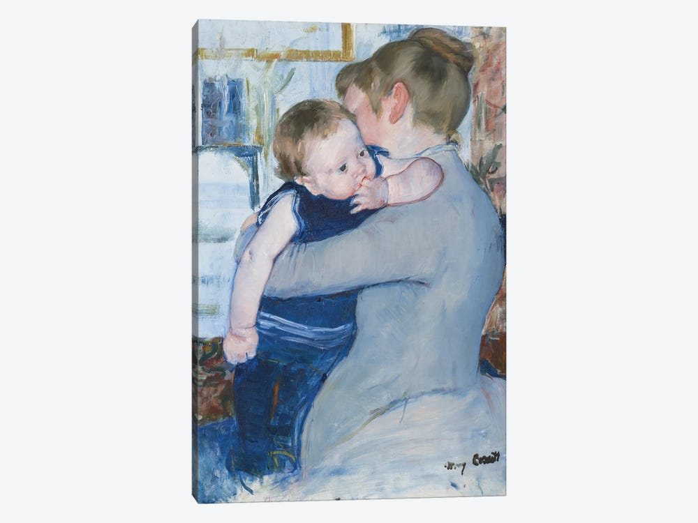 Mother And Child , c. 1889 by Mary Stevenson Cassatt 1-piece Canvas Art Print