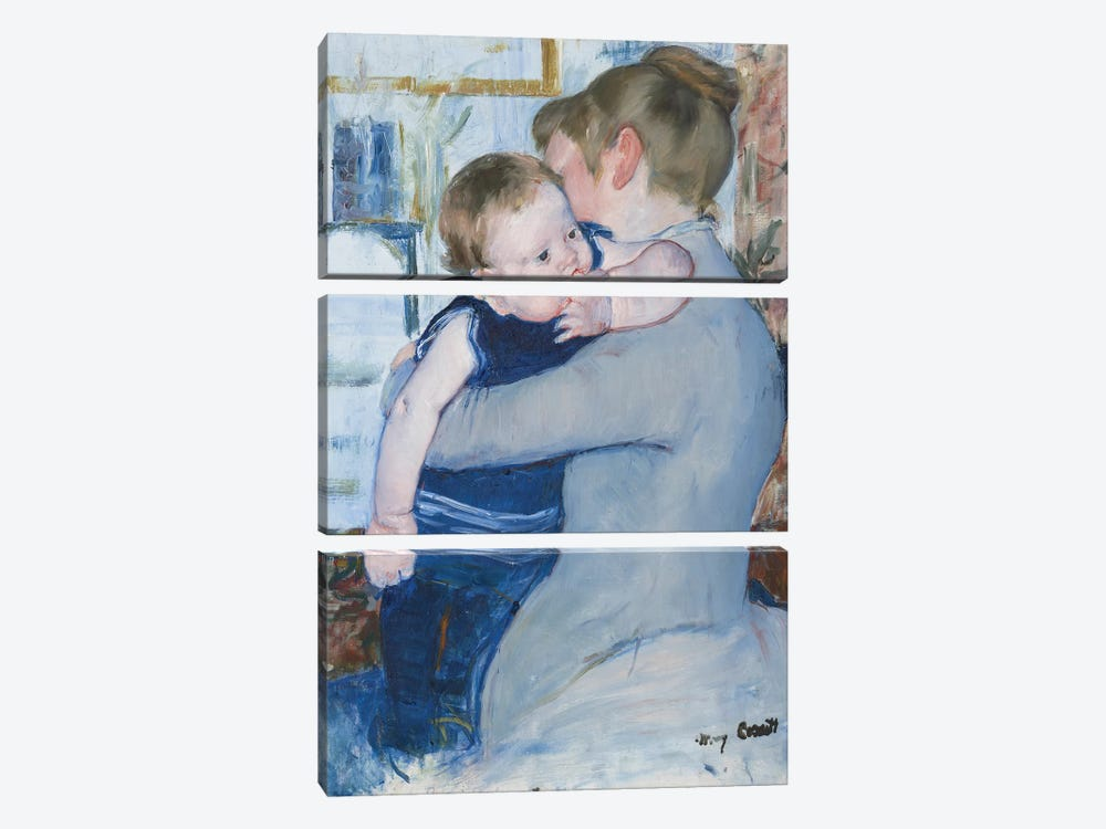 Mother And Child , c. 1889 by Mary Stevenson Cassatt 3-piece Canvas Print