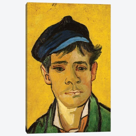 Young Man with a Hat, 1888 Canvas Print #BMN9129} by Vincent van Gogh Canvas Art