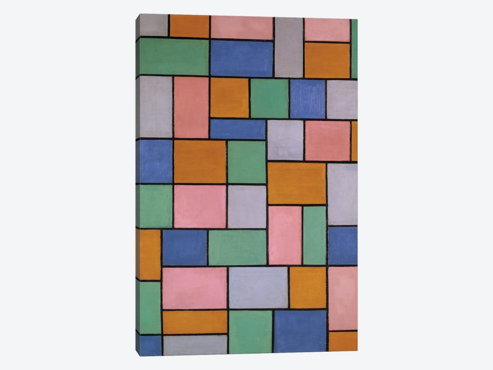Composition In Dissonances by Theo Van Doesburg 1-piece Canvas Print