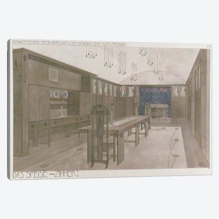 Design for a Dining Room, 1901 Canvas Print #BMN9134} by Charles Rennie Mackintosh Canvas Artwork