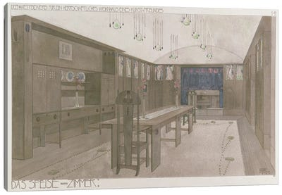 Design for a Dining Room, 1901 Canvas Art Print