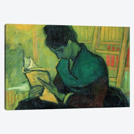 The Novel Reader, 1888 Canvas Print #BMN9139} by Vincent van Gogh Canvas Print