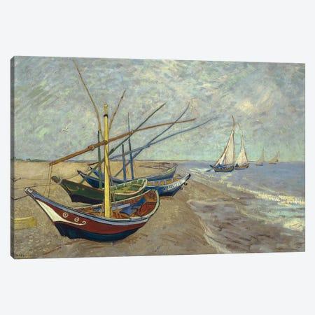 Fishing Boats on the Beach at Saintes-Maries-de-la-Mer, 1888 Canvas Print #BMN9144} by Vincent van Gogh Canvas Art Print