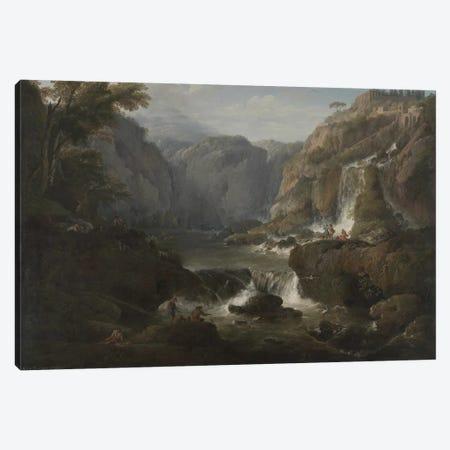 The Waterfalls at Tivoli, 1737 Canvas Print #BMN9146} by Claude Joseph Vernet Art Print