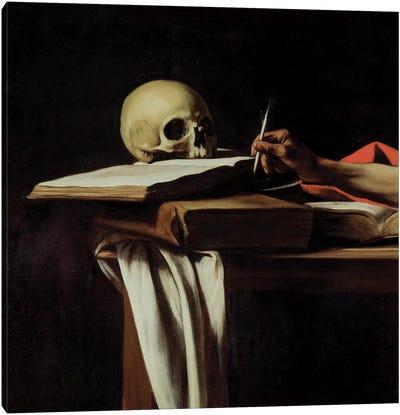 St. Jerome Writing, c.1605 Canvas Art Print