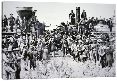 The Golden Spike Ceremony, 10th May 1869 Canvas Art Print