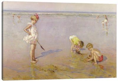 Beach Scene Canvas Art Print
