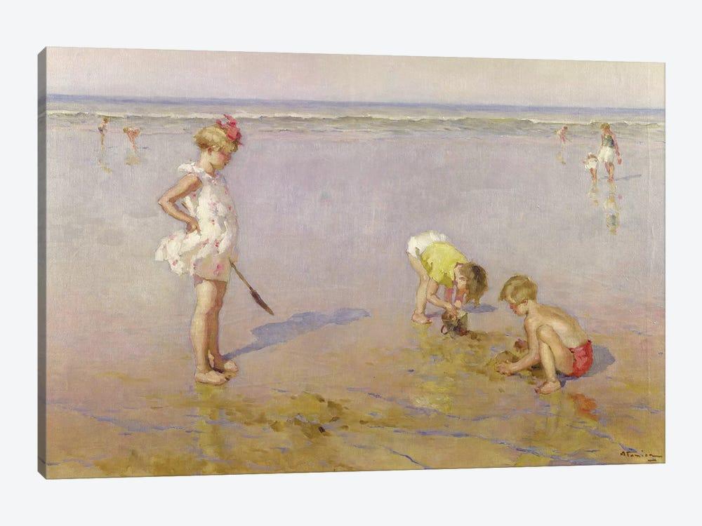 Beach Scene by Charles-Garabed Atamian 1-piece Canvas Art