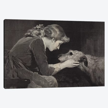 Faithful and True Canvas Print #BMN9163} by Charles Burton Barber Canvas Artwork