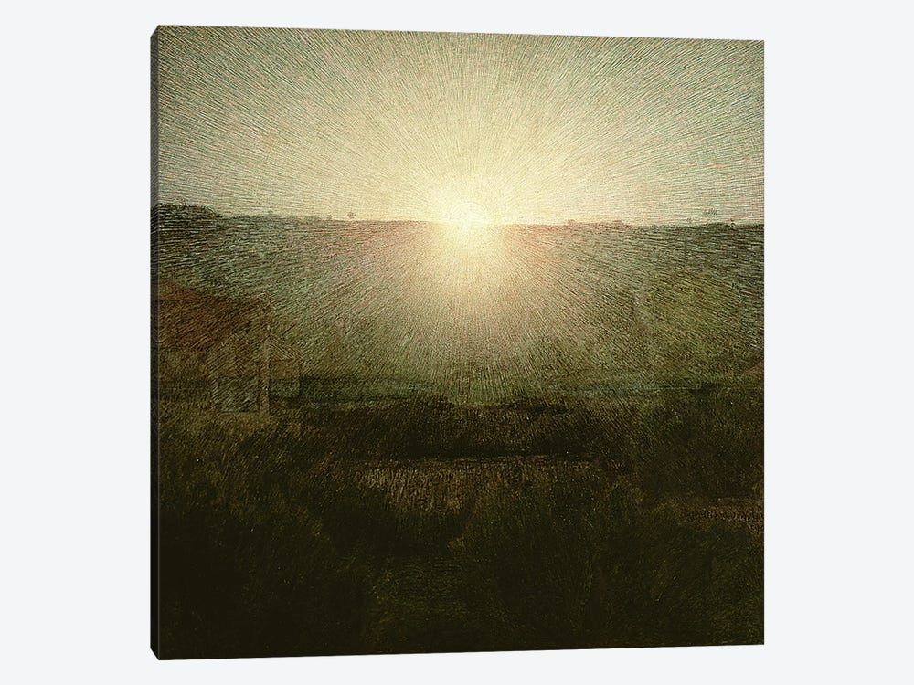 The Sun  by Giuseppe Pellizza da Volpedo 1-piece Canvas Artwork