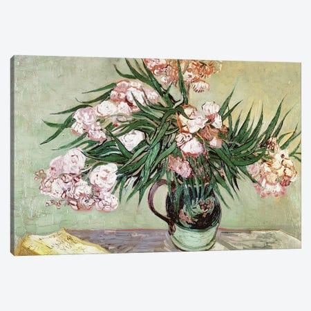 Oleanders and Books, 1888 Canvas Print #BMN9174} by Vincent van Gogh Canvas Artwork
