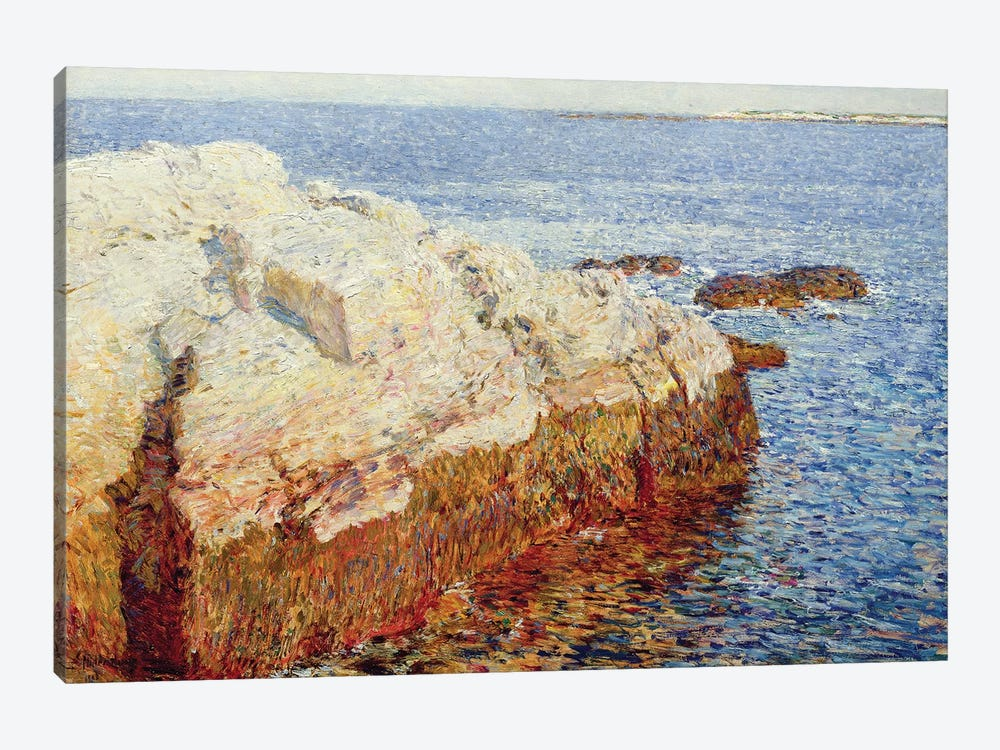 Cliff Rock, Appledore, 1903 by Childe Frederick Hassam 1-piece Canvas Print