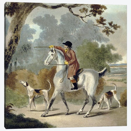 Push Him Tom Boy, from The Pytchley Hunt, engraved by F. Jukes , 1790 Canvas Print #BMN9178} by Charles Lorraine Smith Art Print