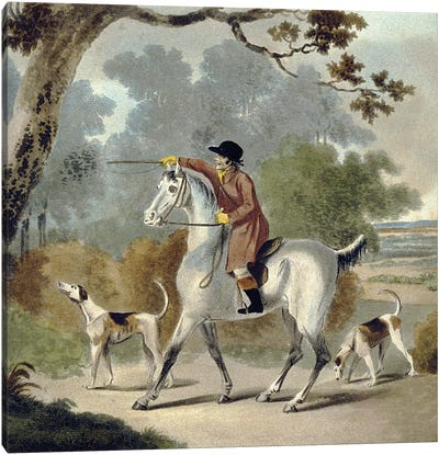 Push Him Tom Boy, from The Pytchley Hunt, engraved by F. Jukes , 1790 Canvas Art Print