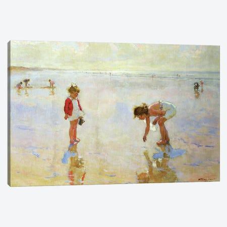 Beach Scene Canvas Print #BMN9180} by Charles-Garabed Atamian Canvas Wall Art