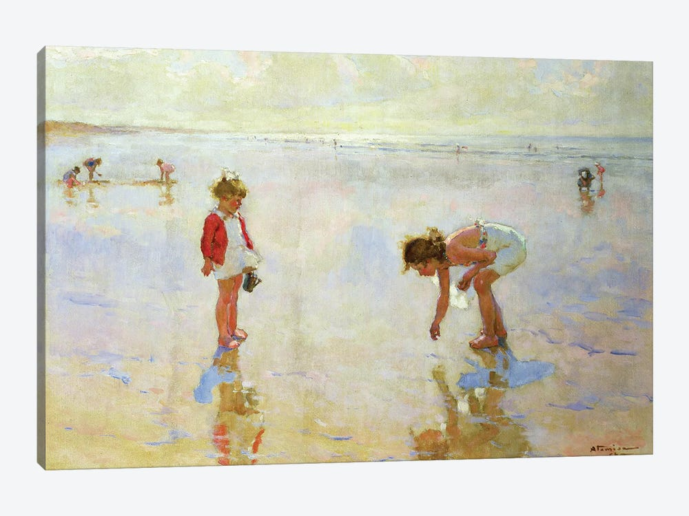 Beach Scene by Charles-Garabed Atamian 1-piece Canvas Print