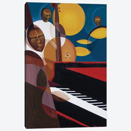 Cobalt Jazz, 2007 Canvas Print #BMN9181} by Kaaria Mucherera Canvas Artwork