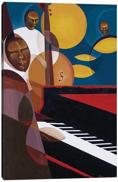 Cobalt Jazz, 2007 Canvas Art Print