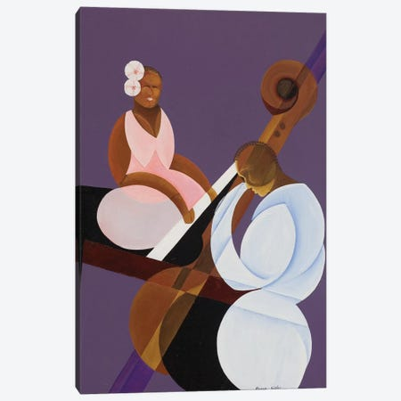 Lavender Jazz, 2007 Canvas Print #BMN9183} by Kaaria Mucherera Canvas Wall Art
