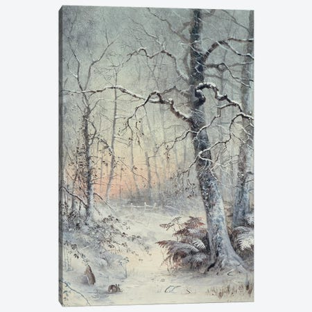 Winter Breakfast Canvas Print #BMN9185} by Joseph Farquharson Art Print