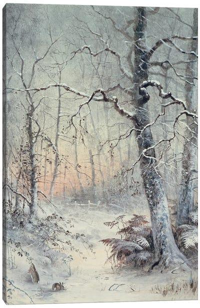 Winter Breakfast Canvas Art Print