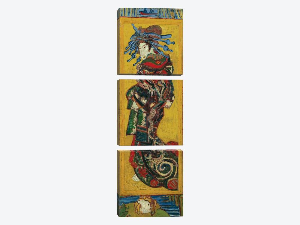 Japonaiserie: Courtesan or Oiran , Paris, 1887 by Vincent van Gogh 3-piece Art Print