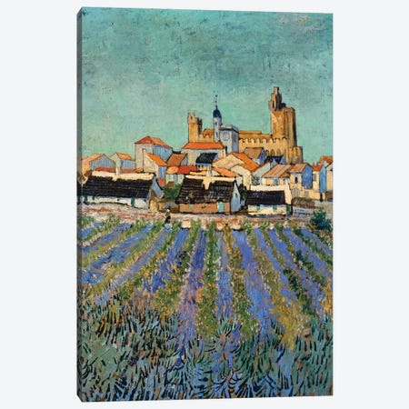 Saintes-Maries-de-la-Mer, 1888 Canvas Print #BMN9189} by Vincent van Gogh Canvas Wall Art