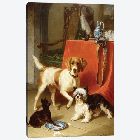Three dogs Canvas Print #BMN918} by Conradyn Cunaeus Canvas Art