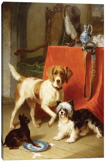 Three dogs Canvas Art Print