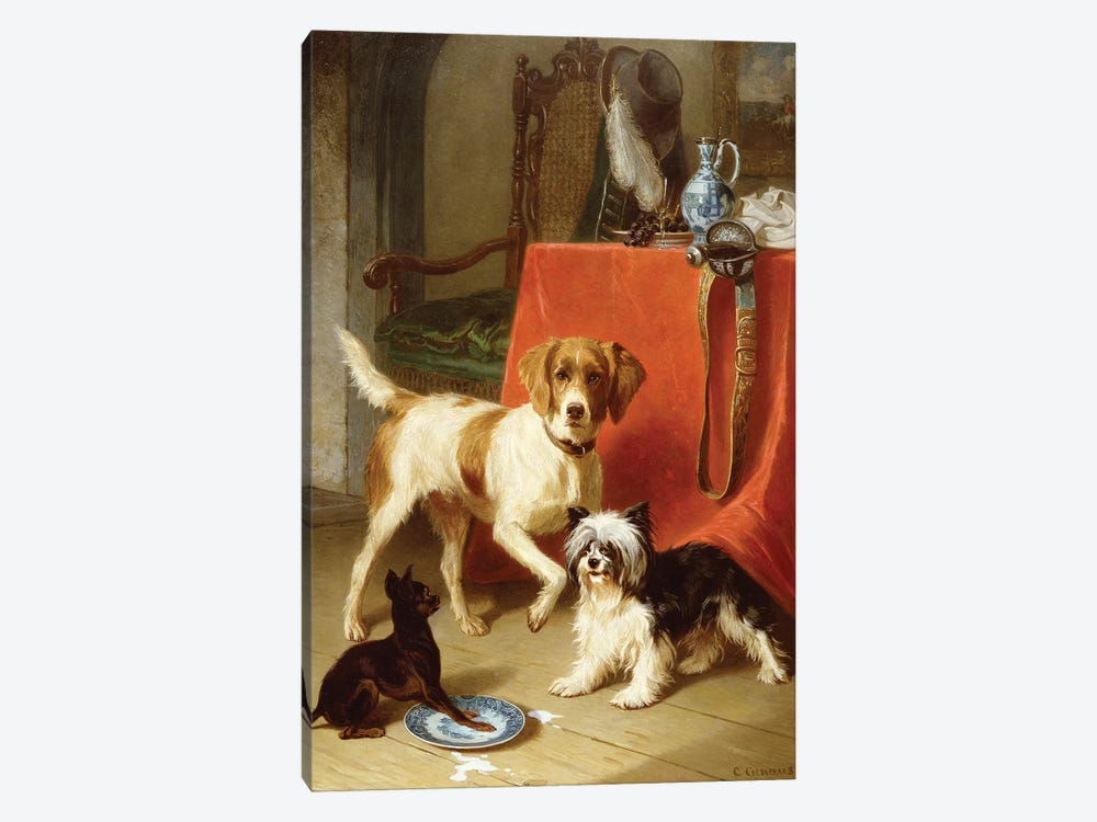 Three dogs by Conradyn Cunaeus 1-piece Canvas Artwork